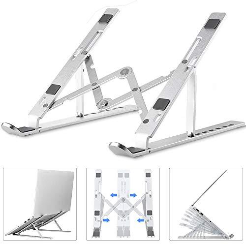 Agedate Laptop Ständer Verstellbar, Tragbarer Belüfteter Laptophalter für Schreibtisch, Faltbarer Ergonomischer Notebook-Riser, Leichte rutschfeste Tablet-Halterung für MacBook iPad HP Dell Lenovo