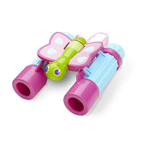 El mejor prismático para niños ajustable: Melissa & Doug- Butterfly Binoculars
