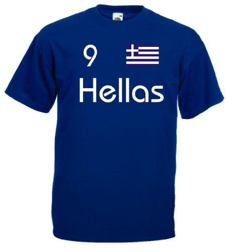 Griechenland Hellas Herren T-Shirt Nr.9 Trikot m-xxxl