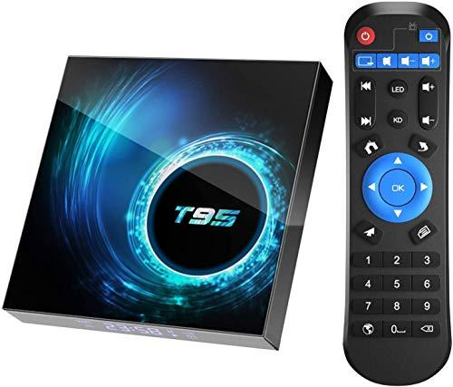 AUSHA® T95 Android 10.0 TV Box, Android Box 4GB RAM 32GB ROM Allwinner H616 Quad core 64-bit, Support 6K HD/ 3D/ H.265 Ethernet 2.4/5G Dual WiFi Bluetooth 5.0