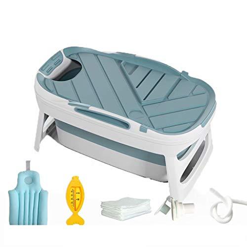 YLJJ Tina de baño Plegable Gruesa para Adultos, bañera, bañera Grande de plástico para el hogar de Cuerpo Completo, Style-8,113 * 64 * 55cm (10kg)