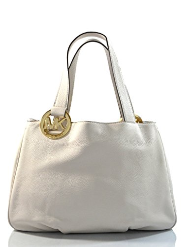 Michael Kors Fulton Large EW Leather Tote Vanilla