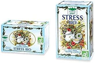 Romon Nature- Tisane Bio Stress. 2 boites de 20 sachets