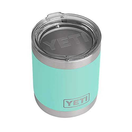 YETI Rambler 10 oz Lowball, Vacuum Insulated, Stainless Steel with Standard Lid, Seafoam