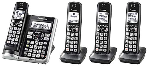 Panasonic KX-TGF574S Link2Cell BluetoothCordless Phone with Voice Assist and Answering Machine - 4...