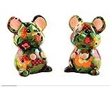 Manzana pidou, juego de sal y pimienta de cerámica, ratón Martha verde,...