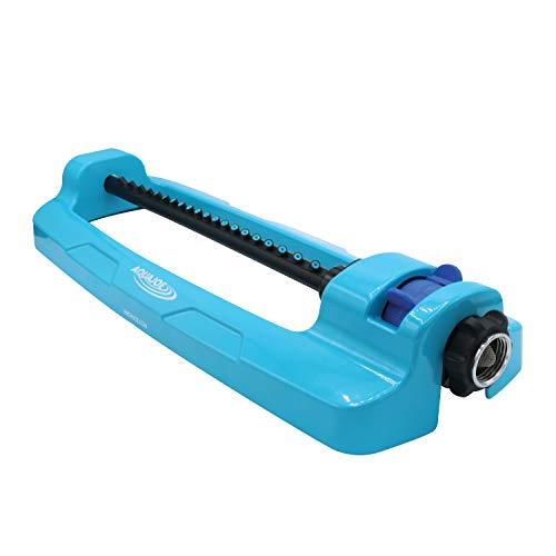 Aqua Joe SJI-OMS20 4,400 Sq Ft Coverage Indestructible Jumbo Oscillating Sprinkler, Metal Base