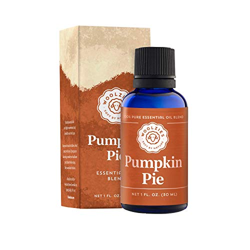 Woolzies 100% Pure & Natural Holiday Pumpkin Pie Essential Oil Blend 1 Fl Oz | Incl. Cinnamon, Clove & Nutmeg |Highest Quality Aromatherapy Therapeutic Grade Oil | For Diffuse, Internal & Topical Use