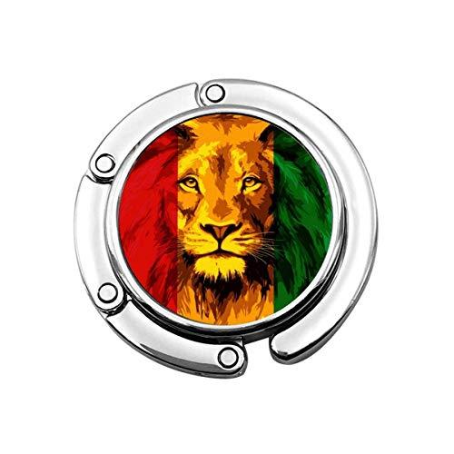 Bolivien Flagge Lion Folding Damen Handtasche Kleiderbügel Geldbörse Hakenhalter
