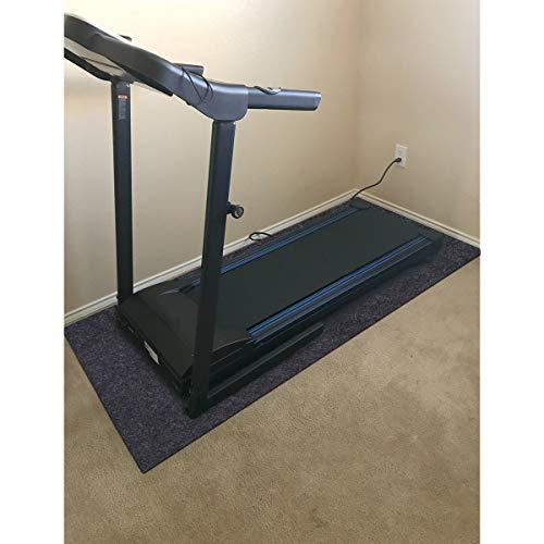 "Fitness Equipment Mats, Absorbent/Waterproof – Protects Exercise Equipment and Floor,Protective Flooring Under Elliptical machine mat, Indoor Treadmill Mat,Washable (24"" x 48"")"