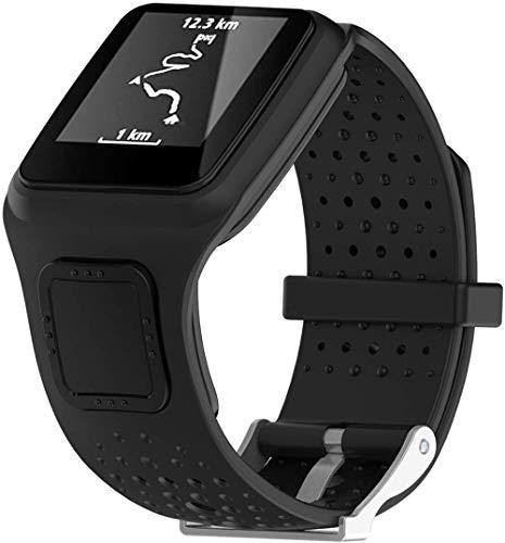 Shieranlee Armband kompatibel mit Tomtom Runner 1 / Multi-Sport Armband - Silikon Fitnesstracker Sportarmband Band