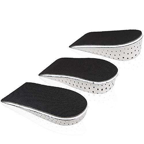 mmfoot Memoria Transpirable Aumento de La Altura de la Espuma Plantilla Invisible Aumento Del Talón Inserciones de Cojines Elevadores de Zapatos Almohadillas de Zapatos Plantillas de Elevadores -3CM