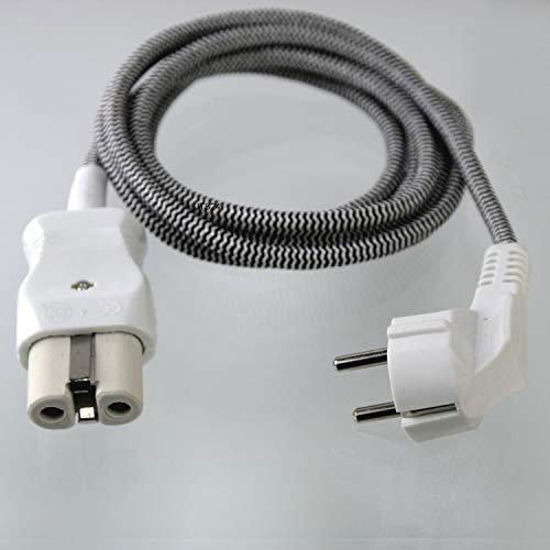 DeClean 3 Meter Gerätekabel Kabel KeramikStecker für alte Toaster Bügeleisen Waffeleisen 10A