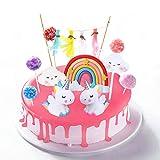 DERU Cake Topper Unicornio, Decoración De Pastel De Unicornio, Decoracion Tarta Unicornio,...