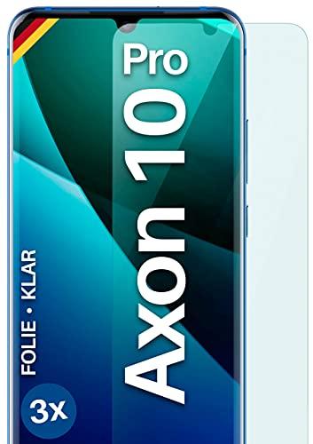 moex [3 Stück] Schutzfolie kompatibel mit ZTE Axon 10 Pro Bildschirmfolie Hüllen-Fre&lich, 0.2 mm dünne Bildschirmschutzfolie, Display Schutz extra Kratzfest - HD Ultra-Klar