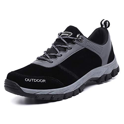 FZUU Unisex Wanderschuhe Trekking Schuhe Herren Damen Sport Outdoor Klettern Sneaker (49 EU / 295 mm, Black-Z)
