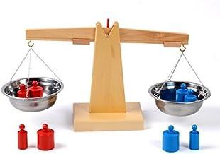YiGooood Montessori Wooden Balance Beam Math toys Weighing Scale Sensorial Early..