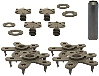 Eagle Klaw - Floor Mat Clips Set of Anti-Slip Fixing Retainers for Car Mats - Made in USA - Beige - Pack of 4 for 2 Mats + 3/8
