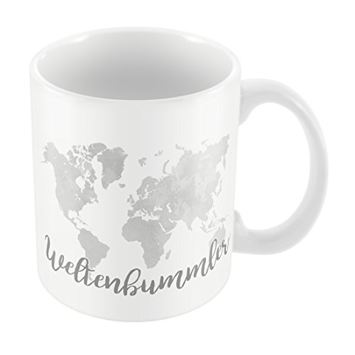Preis am Stiel 1 x Becher Weltenbummler | Kaffeebecher | Trinkbecher | Tasse