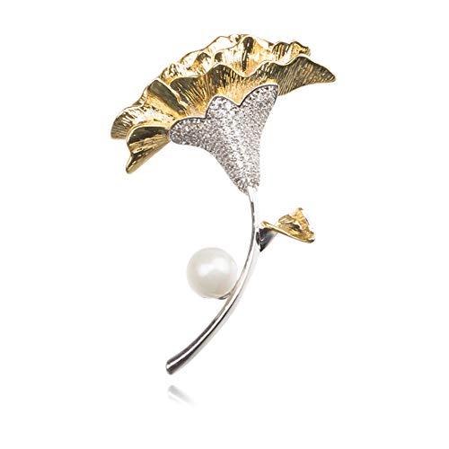 Nice 'Wohnhalle Europäische und amerikanische Weihnachtssträuße mit Diamanten dreidimensionale Brosche einfache Legierung Perle Blumenbrosche Weihnachtstag Geschenk Kragen Pin Zubehör