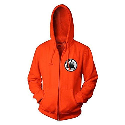 Sudadera con capucha Daiendi, para adultos, con cremallera, diseño de Goku Kame de Dragon Ball Z, símbolo color naranja Naranja naranja XXL