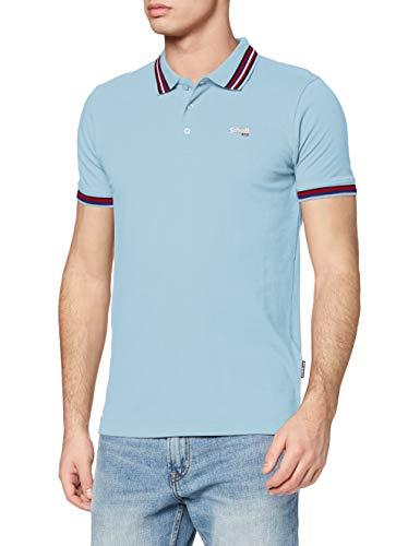 Schott NYC Herren Pshenry T-Shirt, Blau (Bleu Ciel Bleu Ciel), Large
