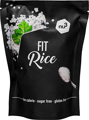 nu3 Low Carb Rice di Konjac Glucommanan | Confezione da 350 g | Riso senza carboidrati | solo 14 calorie per confezione | A basso contenuto calorico | Vegani, senza lattosio e senza glutine