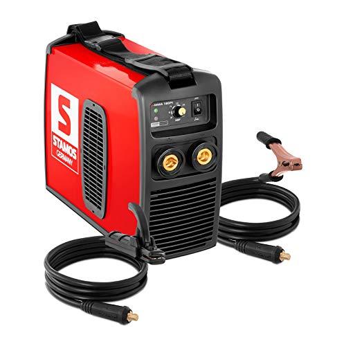 Stamos Germany S-MMA-180-PI Elektroden-Schweißgerät 180 A 230 V Hot Start IGBT Inverter MMA Schweißer Elektrodenschweißgerät Elektroden Schweißgerät