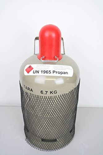 5 kg Gasflasche Grau Ungefüllt/Leer Eigentumsflasche Propangasflasche Flaschenschlüssel