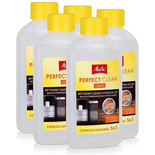 5x Melitta 202034 Perfect Clean Espresso Machines Milchsystem Reiniger 250ml