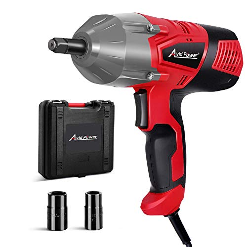 AVID POWER Electric Impact Wrench with 1/2 Inch Chuck, 500 N.m (370 Ft-lbs) Max Torque with 2 Sockets(13/16