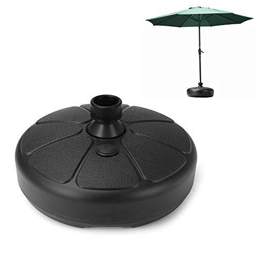 ZqiroLt Parasol, soporte para sombrillas, soporte para base, exterior, jardín, playa, patio, redondo, 38 mm, color negro
