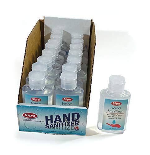 bulk hand sanitizer minis Sipa Bulk Hand Sanitizer Travel Size Bundle 2 oz (Pack of 16) 70% Ethyl Alcohol, Protect Against Germs with Vitamin E Formula