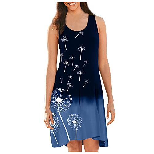 VCAOKF Sukienka damska temperamentu, smukła kamizelka z nadrukiem, luźna plisowana druk, huśtawka gradientowa kolorów, moda na szelki drapowanie spódnica, rendering, sukienka damska S/M/L/XL/XXL