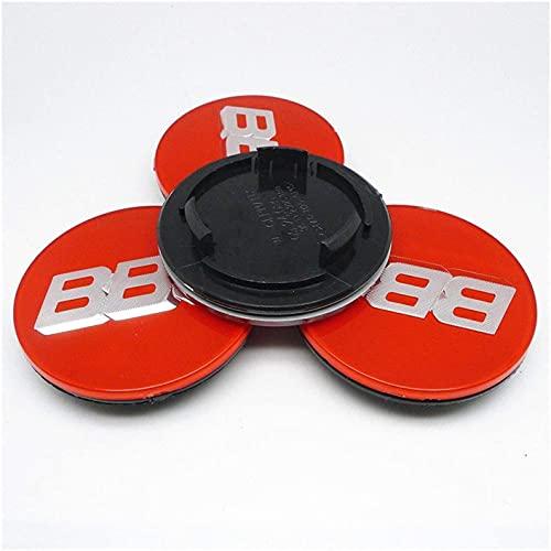 WBXM 4 Piezas Tapas centrales para Llantas, para BBS RM RZ RG RS, 70mm Neumáticos Tapacubos Modelado Accesorios de Decoracion