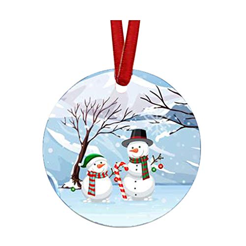 FeiFei66 2020 Christmas Ornament Cute Santa Clause Handmade Tree Decoration Xmas Gifts Pendant (C)