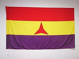 AZ FLAG Bandera ESPAÑA Republicana BRIGADAS INTERNACIONALES 150x90cm para Palo - Bandera DE LA Republica ESPAÑOLA 90 x 150 cm