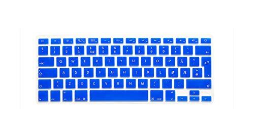 super-super Norwegian UK EU Silicone Keyboard Cover Skin protector film for MacBook Air Pro Retina 13 15 17 For Mac Air 13.3 Inch-Blue