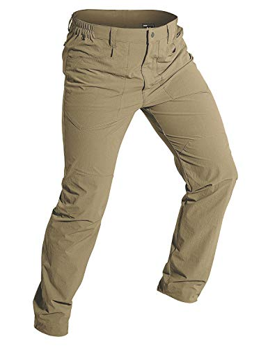Wespornow Pantalones de senderismo para hombre, ligeros, secado rápido, transpirables, para exteriores,...