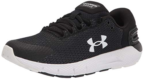 Under Armour womens Charged Rogue 2.5 Running Shoe, Black/White, 10.5 US