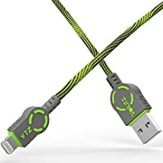 Lightning Kabel 1,8m – MFI zertifiziertes Lightning auf USB iPhone Ladekabel und Datenkabel für iPhone X 8/8 Plus 7/7 Plus 6S/6S Plus 6/6 Plus 5uvm. - AmorCord Series- Moss Green