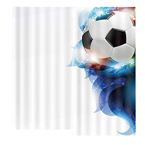 baqianli Moderno 3D Cortinas Fútbol Americano 3D Cortinas Opacas Cortinas para Salón Dormitorio Infantil Habitación Cocina Hogar Decoración 170X200Cm(Width X Height)