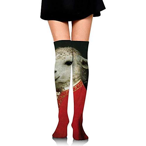 NA Mozzat geiten, muziek, grappige compressiesokken bovenbeenhoge sokken over de knie sokken voor mannen vrouwen ondersteunt atletiek hardlopen fietsen voetbal