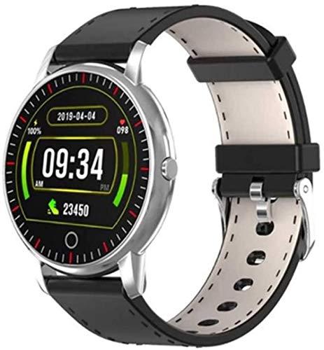 Deportes podómetro pantalla a color reloj inteligente ritmo cardíaco monitoreo de la salud deportes pulsera impermeable plata