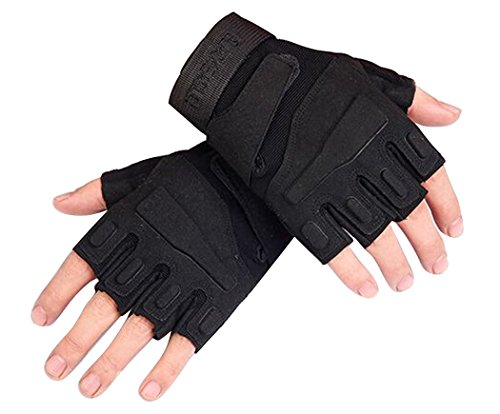 COOFIT Fingerlose Handschuhe, Fitness Handschuhe Sporthandschuhe Herren Handschuhe Motorrad Handschuhe Tactical Gloves