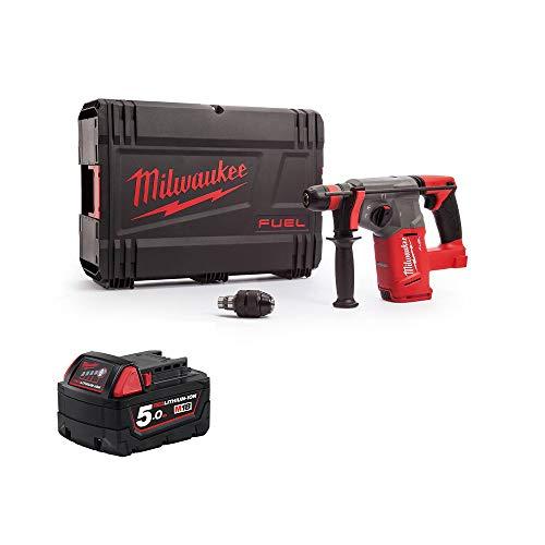 Milwaukee M18CHX-0 M18 Fuel SDS+ Hammer Drill 1 x 5Ah M18B5 Battery,Case