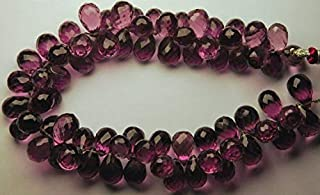 Jewel Beads Natural Beautiful jewellery 10 Pcs of Extremely Beautiful,Super Finest,KUNZITE PINK QUARTZ Micro Faceted Tear Drops Shape Briolettes,10-11mmCode:- JBB-29296