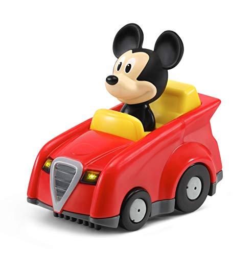 VTech - TutTutBólidos Disney, Coche de Carreras de Mickey, vehículo Interactivo con música, Voz y Efectos Luminosos, Sus Ruedas giratorias con Sensor activan Frases, melodías y Canciones (80-521522)