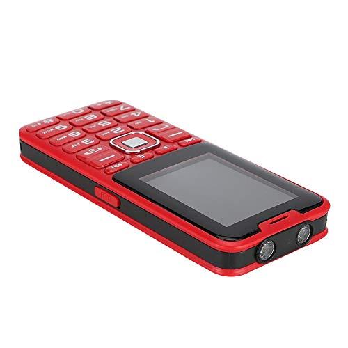 Wosune Teléfono móvil, función de Linterna LED Cuatro Tarjetas Cuatro teléfono en Espera, para Dormitorio, Oficina en casa, Sala de Estar(Red, Transl)