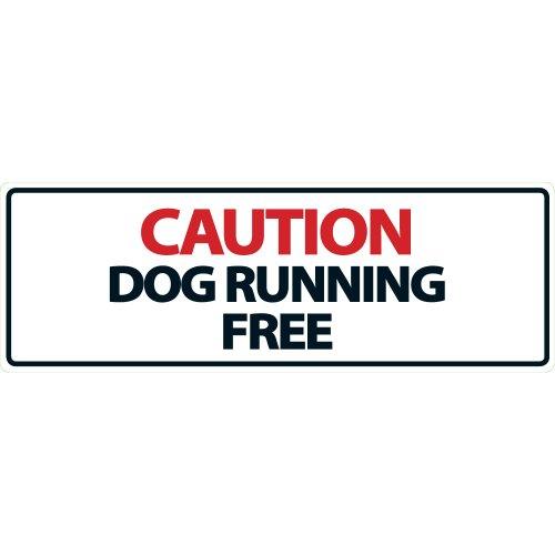 Magnet & Steel Panneau « Caution Dog Running Free »